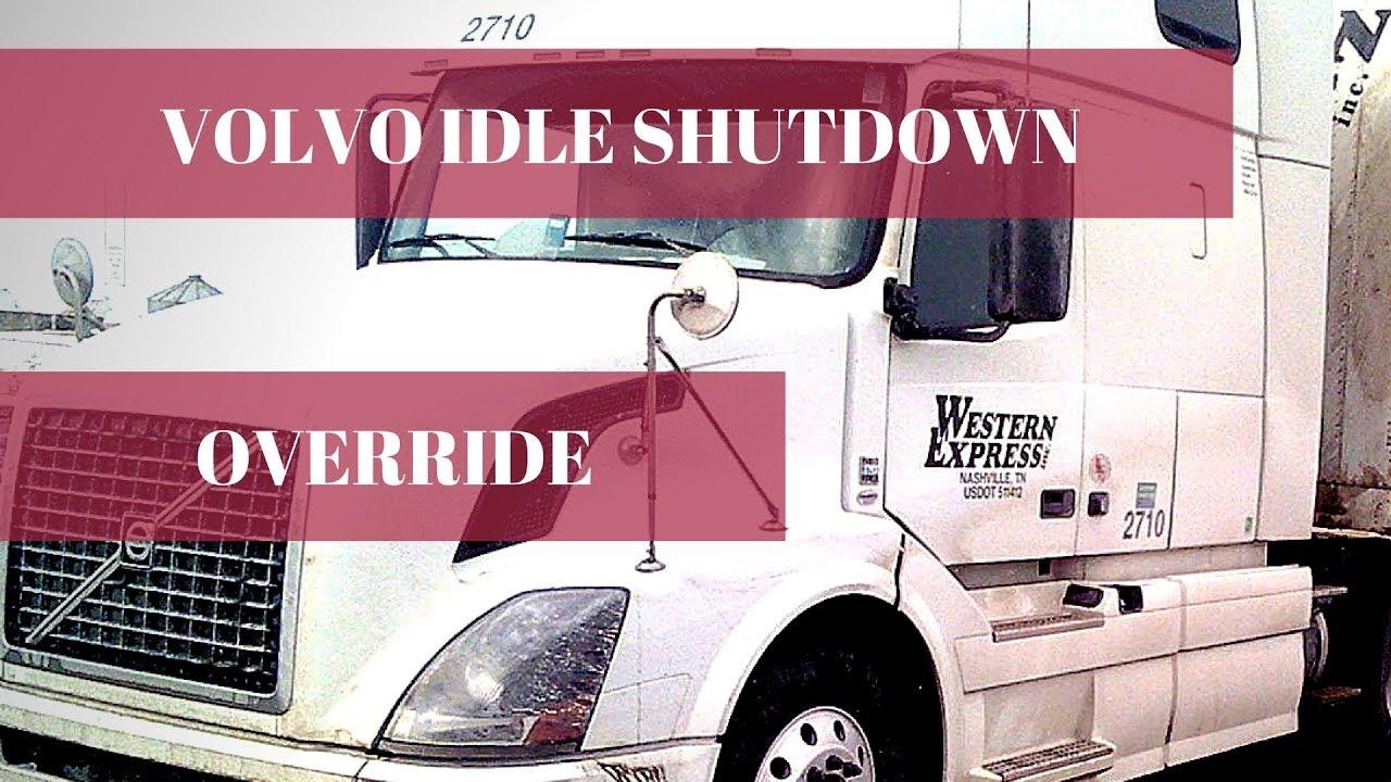 Idle shutdown override for Volvo truck