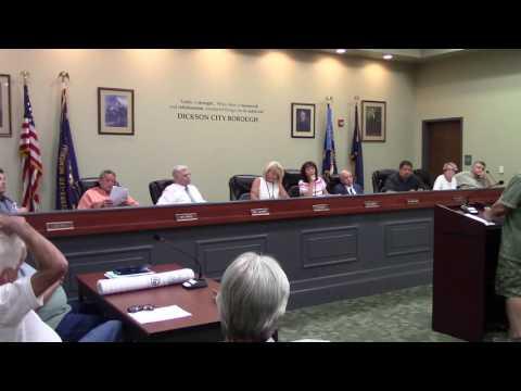 Dickson City Council Meeting 7 12 2016 2