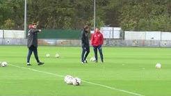 Die erste Trainingseinheit von Hannes Wolf | Training am 24.10.18 | #nurderHSV