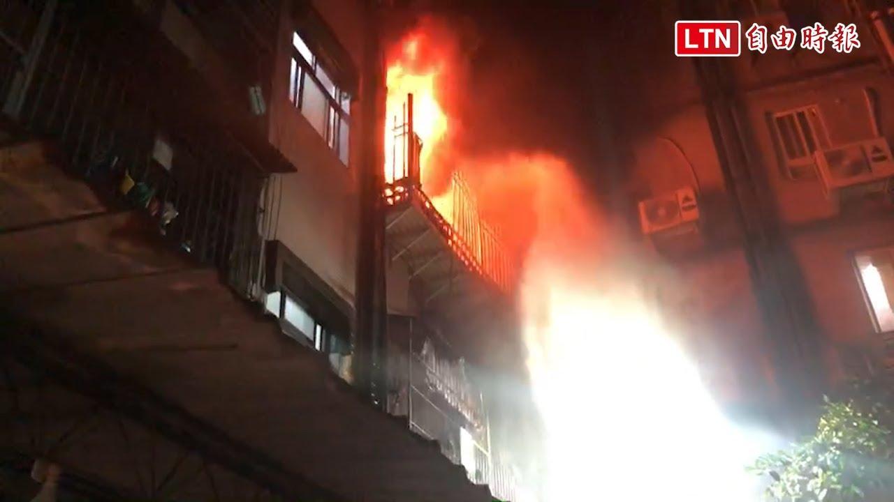 新莊大火一家3口跳3樓逃命 母救子女摔斷腳踝