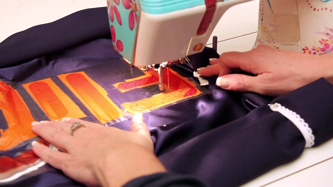 How To Embroider Using Free Motion Embroidery Apany Logo Using The  Octihoops