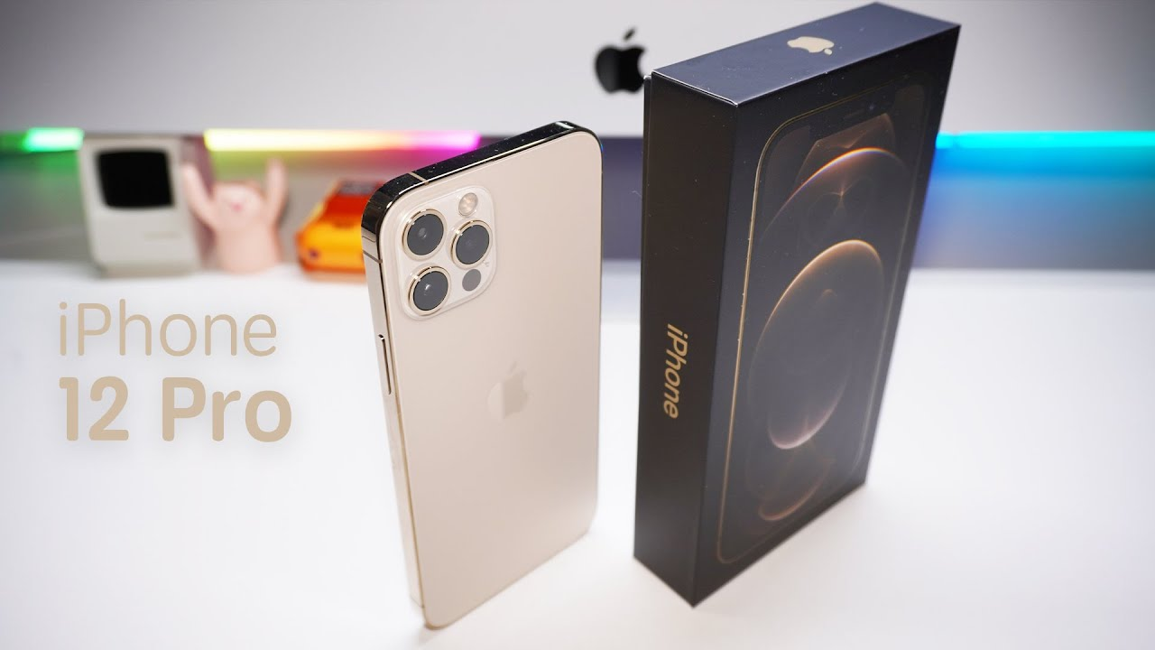 iPhone 12 Pro Gold Unboxing - No Talking - YouTube