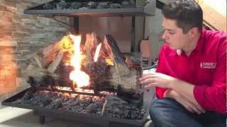 Napoleon Reversible Gas Log Set Fireplace Burn Video Product Review Automatic Starter