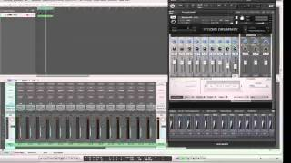Studio Drummer via Kontakt 5 multi-outputs and Logic Pro