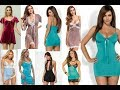 Hot short maxi silk nighty dresses ladies girls video/ latest babydoll nite wear suits, sleepwear