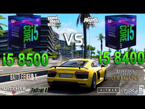 i5 8500 vs i5 8400 Test in 8 Games