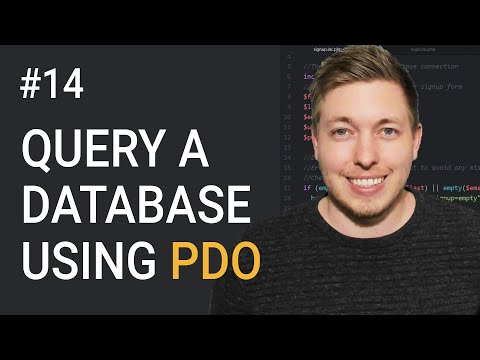 14: How To Query A Database Using PDO PHP | OOP PHP Tutorial | Learn OOP PHP | PDO Tutorial