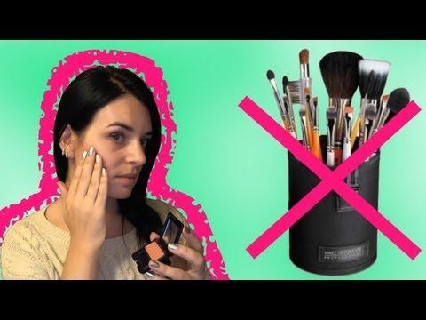 No brushes make up | Макияж без кистей
