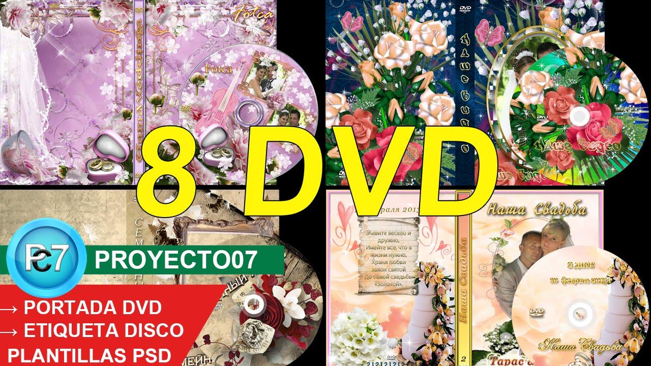 8 Dvd BODAS[PORTADA y ETIQUETA] editables por capas en PHOTOSHOP CC ...