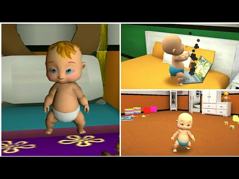 Playing Virtual Baby Mother Simulator Family Game. Naughty Babysitter. Part#2
