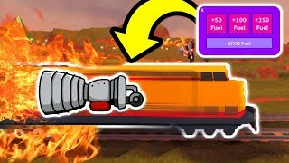 USING ROCKET FUEL ON THE TRAIN! IMPOSSIBLE!? (Roblox Jailbreak New Update)