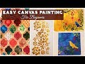 Easy Canvas Painting Idea | Canvas Painting For Beginners
