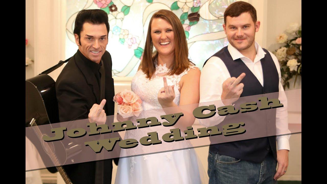 070417 Johnny Cash Wedding At Cupids Chapel Las Vegas