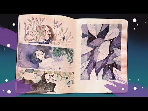 Sketchbook tour \\ halfway inktober & doodles