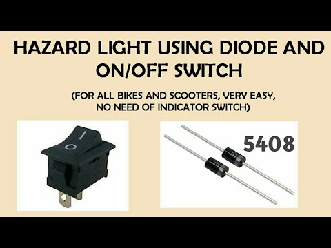 hazard light using diode and on off switch - YouTube