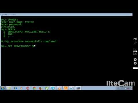 Hello word program  PL/SQL Programming ) -2