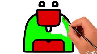 SUPER colouring page| Learn How to Draw scarf, and kitchen material| Colouring Pages for Children