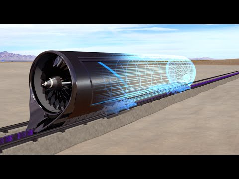 Hyperloop One Propulsion Open Air Test Animation