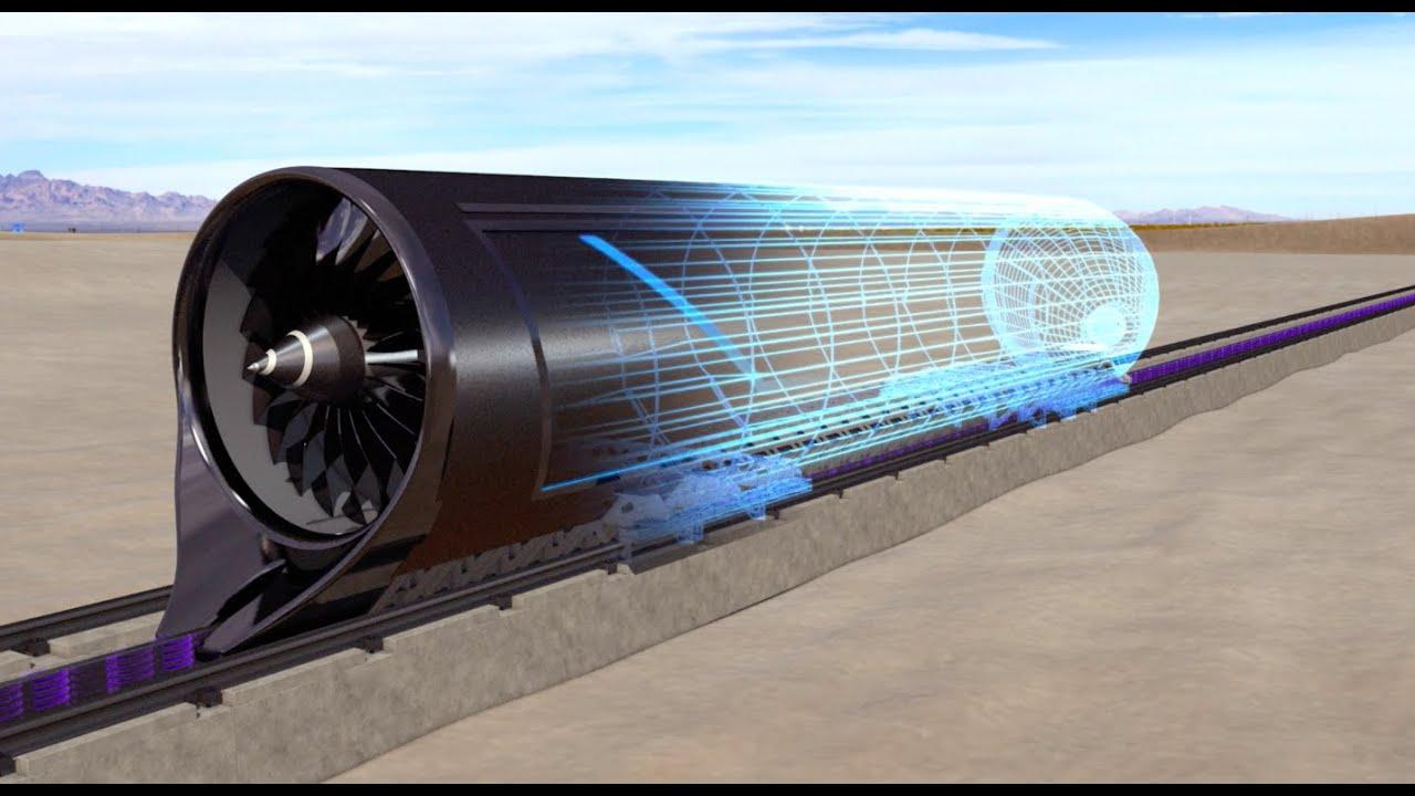 Hyperloop One Propulsion Open Air Test Animation Youtube