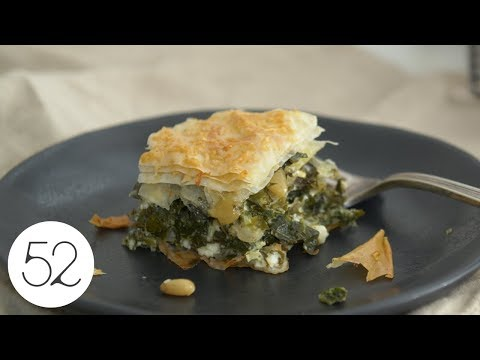 Alon Shaya's Spanakopita with Collard and Mustard Greens | Food52 + Bosch