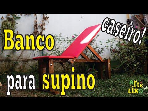 Banco Supino - Musculação - Exercícios - Caseiro - DIY - Weight Bench - Arte do Lixo