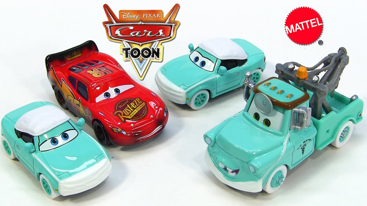 Disney Cars Toon Rescue Squad Mater Burnt Lightning
