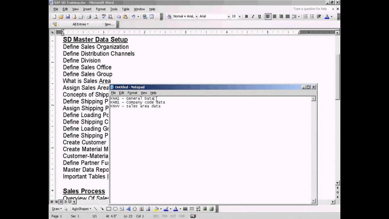 SAP SD - Important Tables In Master Data