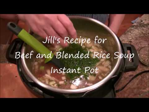 Recipe for Beef & Rice Medley Soup | Instant Pot Recipe