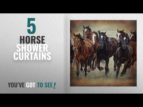 Top 10 Horse Shower Curtains [2018]: Galloping Horses Shower Curtain