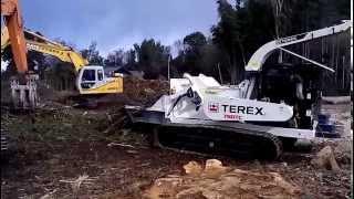 はたらく車 坂本産業株式会社 大型チッパー 破砕 竹林・山林 伐採