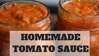 How To Make Tomato Sauce- From Fresh Tomatoes (Spaghetti Sauce: Part 1)