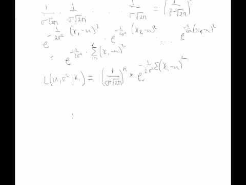 Maximum Likelihood Estimation (MLE): MLE Method - Parameter Estimation - Normal Distribution