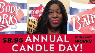 •HUGE• ANNUAL 2018 CANDLE DAY HAUL• BATH & BODY WORKS | VLOGMAS #2