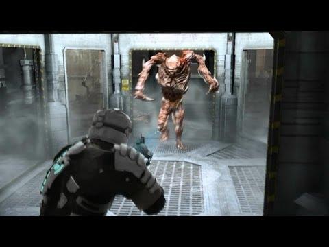 Dead Space 1 walkthrough part 9 - Chapter 5 the Hunter / Regenerator boss fight