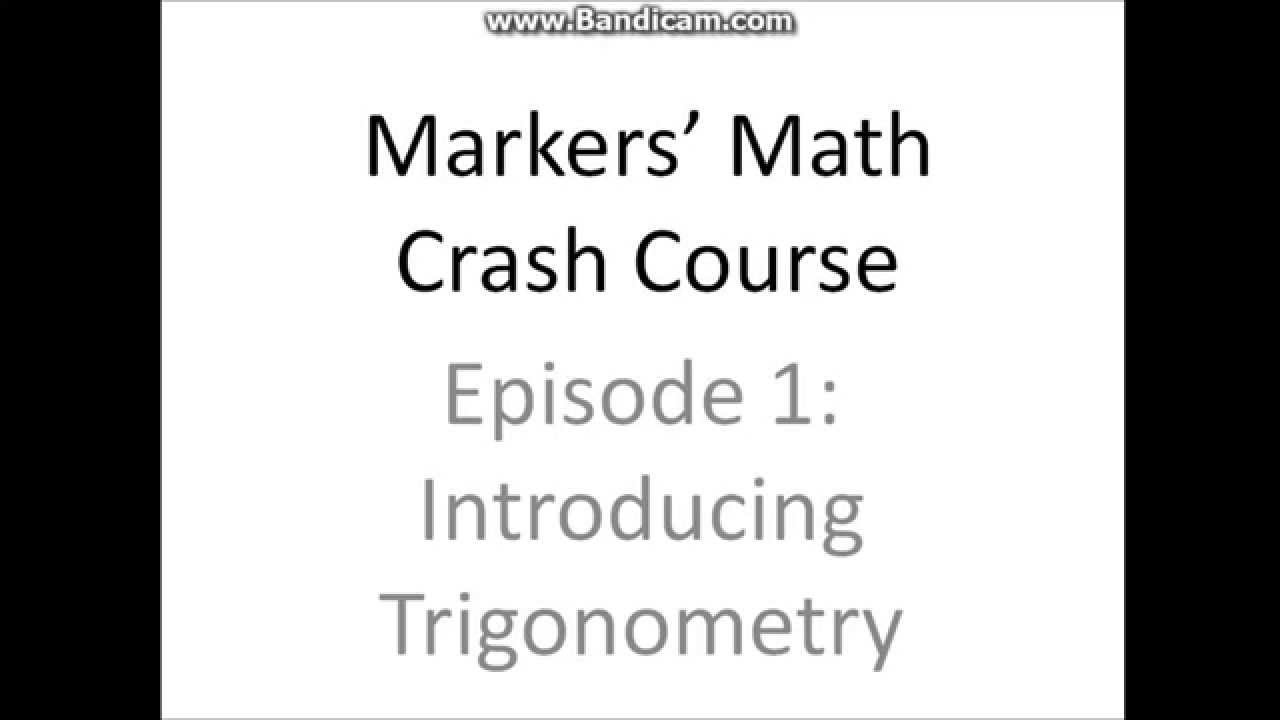 Markers' Math Crash Course #1: Introduction to