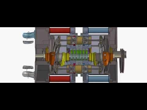 Opposed piston engine axial diesel