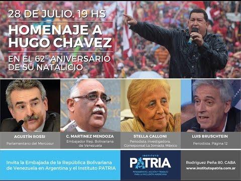 Homenaje a Hugo Chávez, en el 62º aniversario de su natalicio.