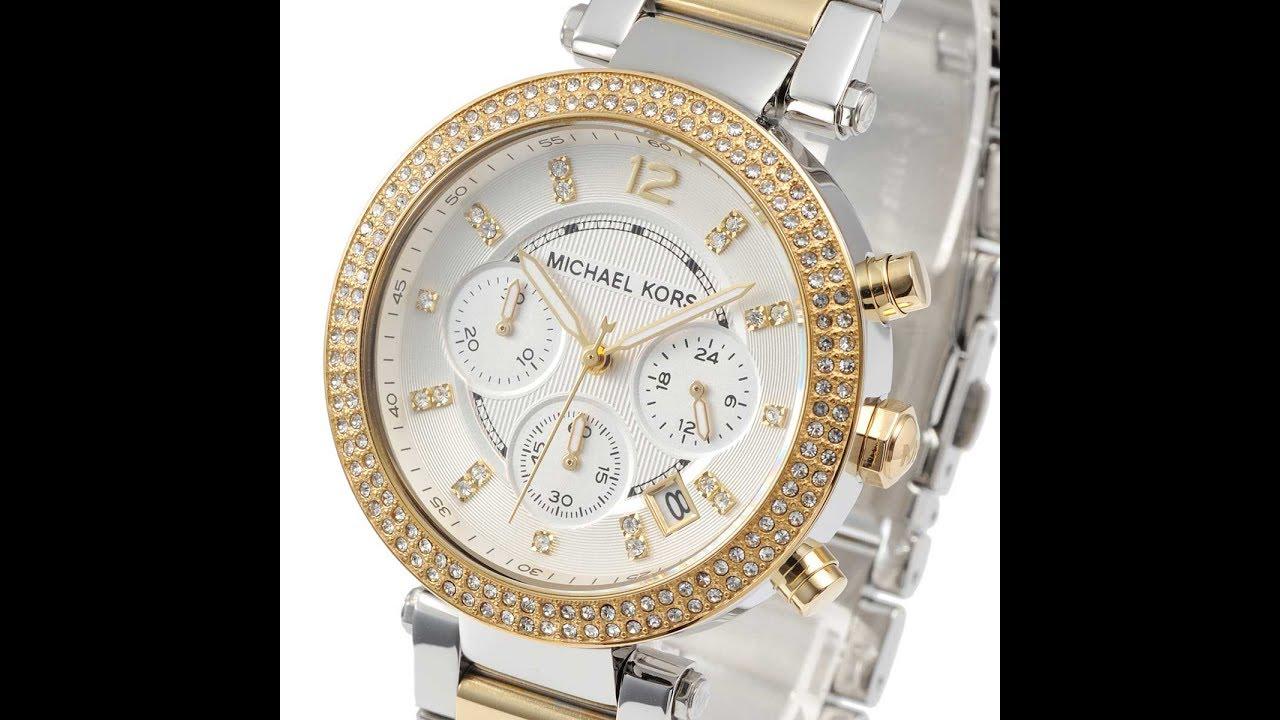 a998c06a3863 MICHAEL KORS MK5626 LADIES WATCH PARKER CHRONO GLITZ SILVER DIAL TWO-TONE  MK5626 マイケル・コース 腕時計 シルバー