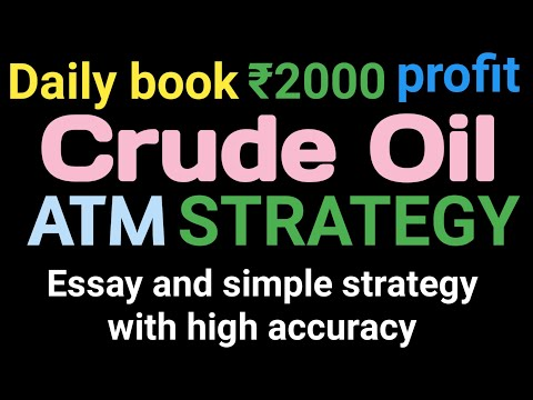 Crude Oil Intraday ATM Strategy | Powerful Simple And Easy Strategy | MCX Crude Oil