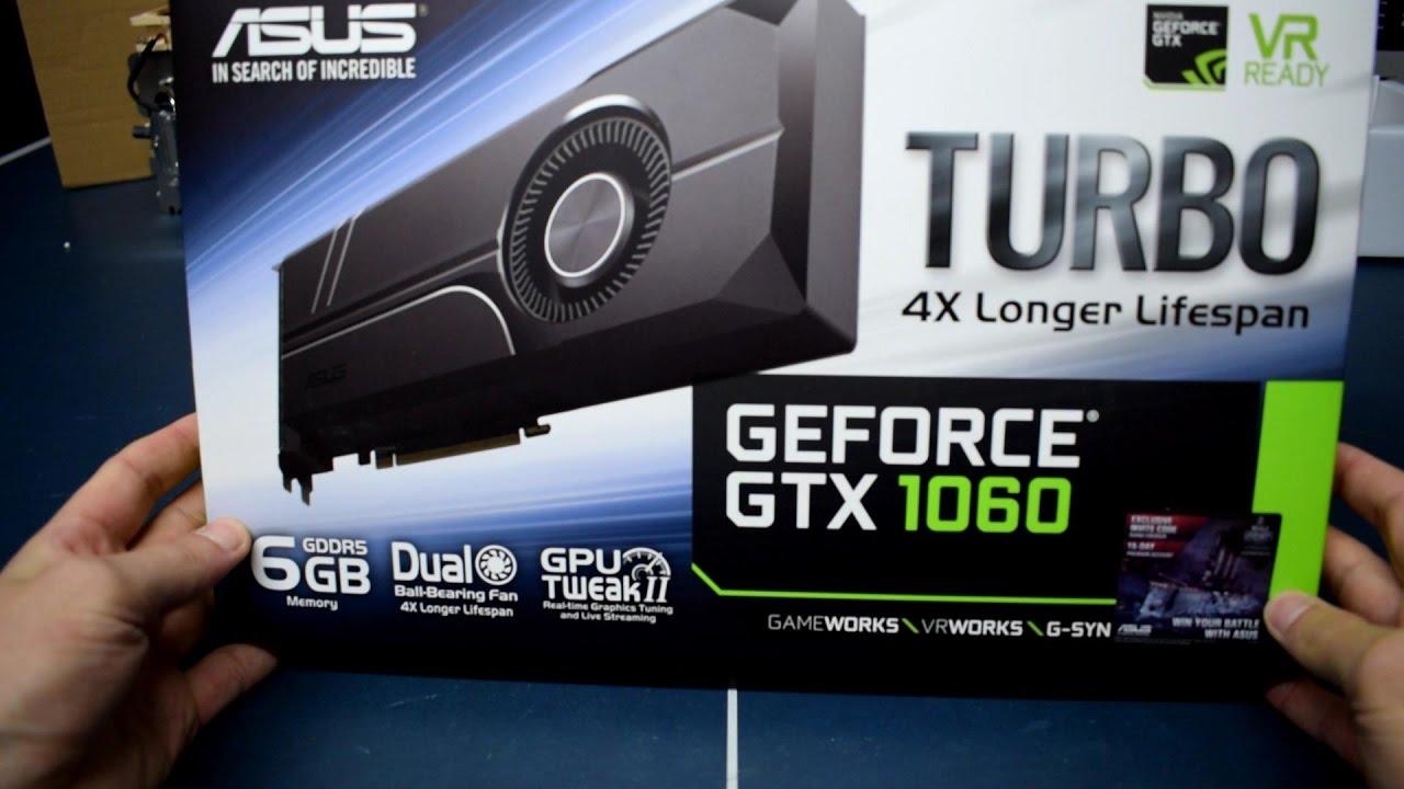 ASUS GeForce GTX 1060 6GB TURBO - UNBOXING, Max Temp & Clocks