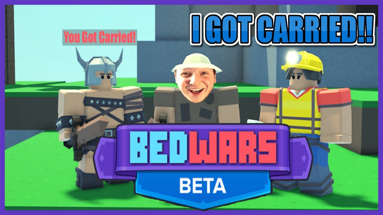 GETTING CARRIED BY MY VIEWERS!!😱BEDWARS ON ROBLOX!