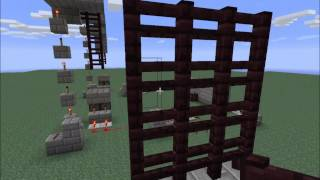 Minecraft Simple Sliding Gate (Portcullis) Tutorial - No Gravity Blocks