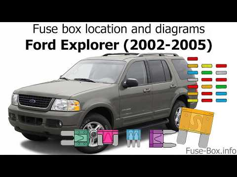 [SCHEMATICS_44OR]  Fuse box location and diagrams: Ford Explorer (2002-2005) - YouTube | Fuse Box For 2004 Ford Explorer |  | YouTube