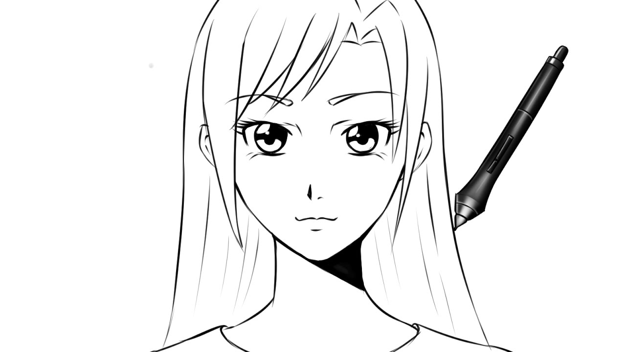 Tuto comment dessiner un visage manga fille face youtube - Dessins a dessiner facile ...