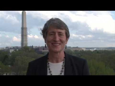 Secretary of the Interior Sally Jewell addresses Interior Employees