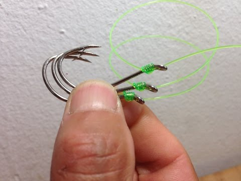 How To Tie 2,3,4,5 6 Hooks Quick Easy Knot Fast Strong You Can Catch More Fish