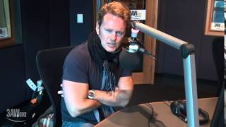 Craig McLachlan, star of The Rocky Horror Show, with Denis Walter