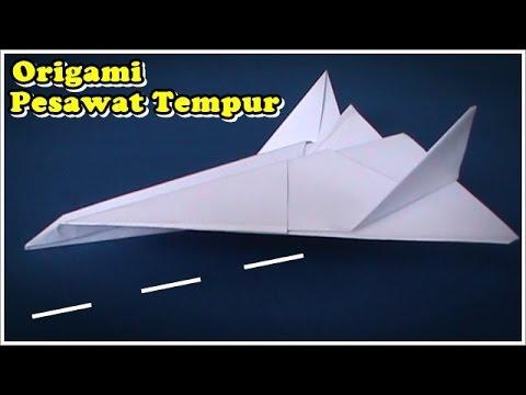 Origami Pesawat Tempur - YouTube