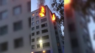 Man jumps out window to escape fire