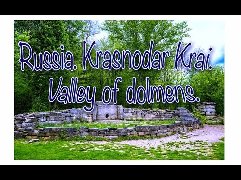 Russia .  Krasnodar Krai .  Valley of dolmens .